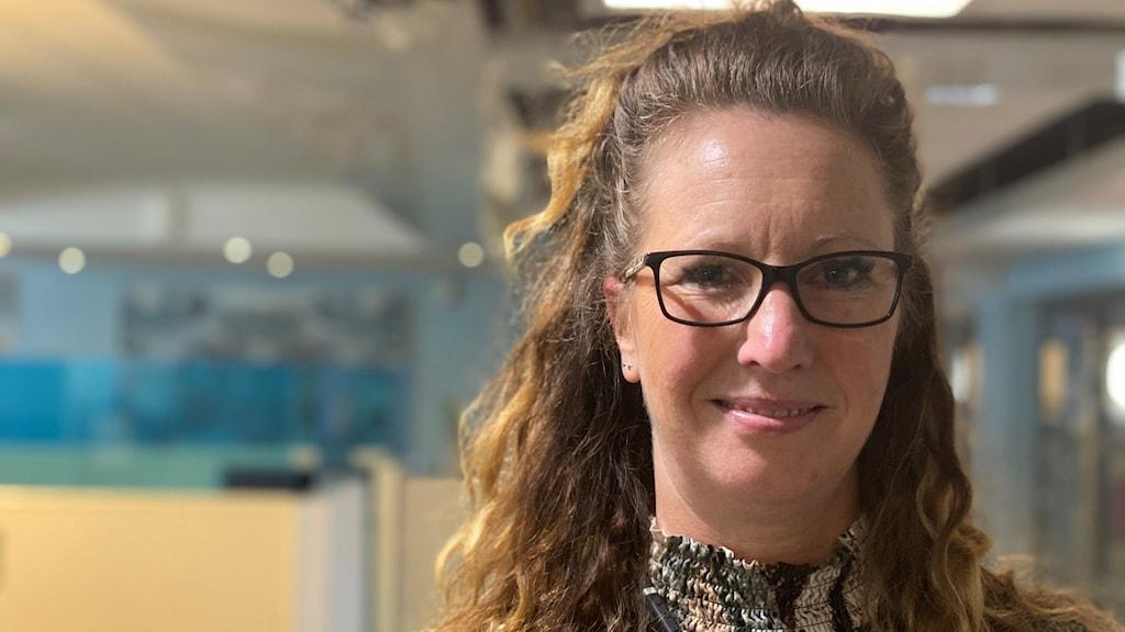 Jessica Bodin som är chef för bedrägerigruppen i Gävleborg