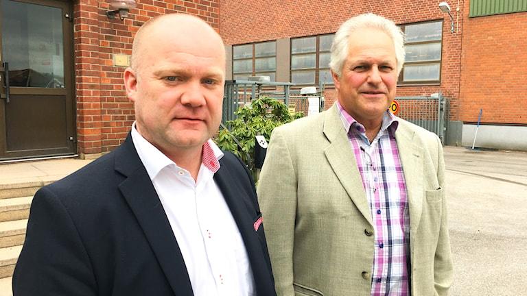 Magnus Lindberg och Thomas Lundgren, ordförande Gefleortens