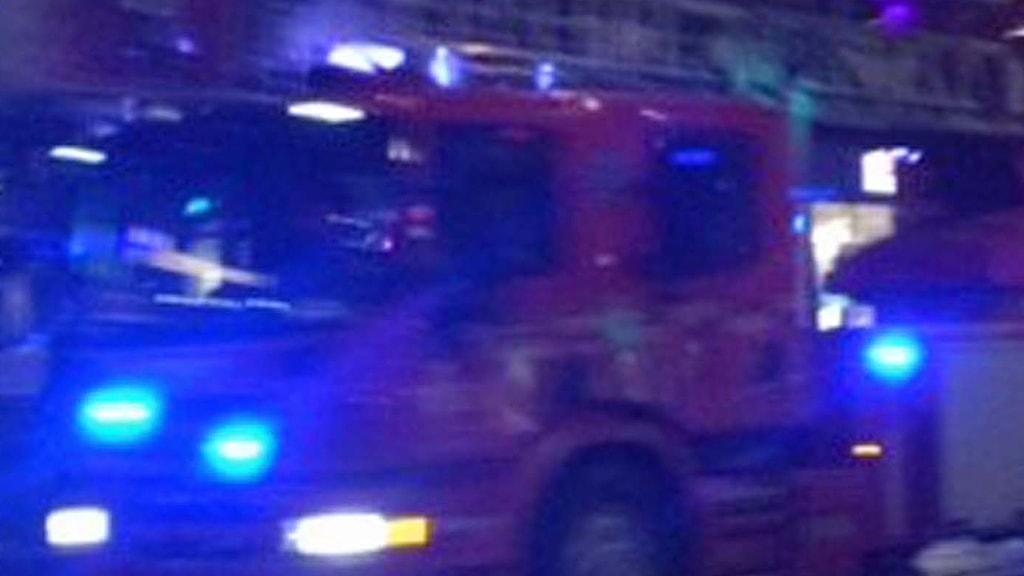 brandbil på utryckning