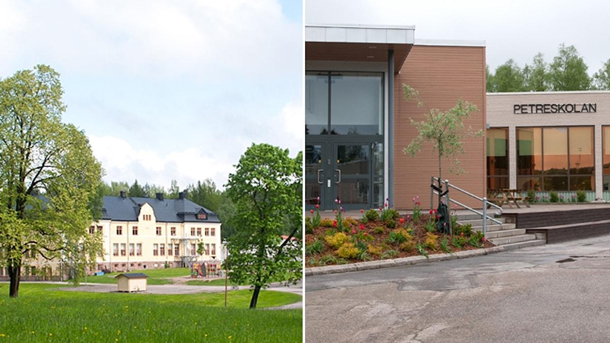 Värnaskolan och Petreskolan i Hofors.