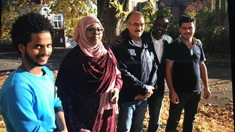 Dawit Tsada, Sahro Hussein, Mohammad Yousuf, Abdi Ahmed och Emad Hamdo har varit med och bygga sajten informationsoderhamn.se.