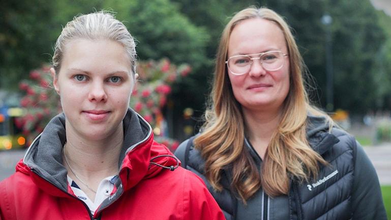 Anna Borgqvist Brynässpelarna Erica Udén Johansson och