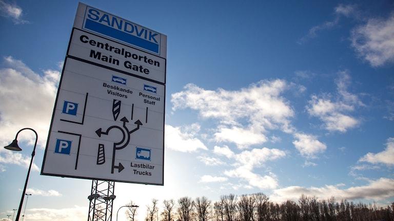 skylt med texten Sandvik