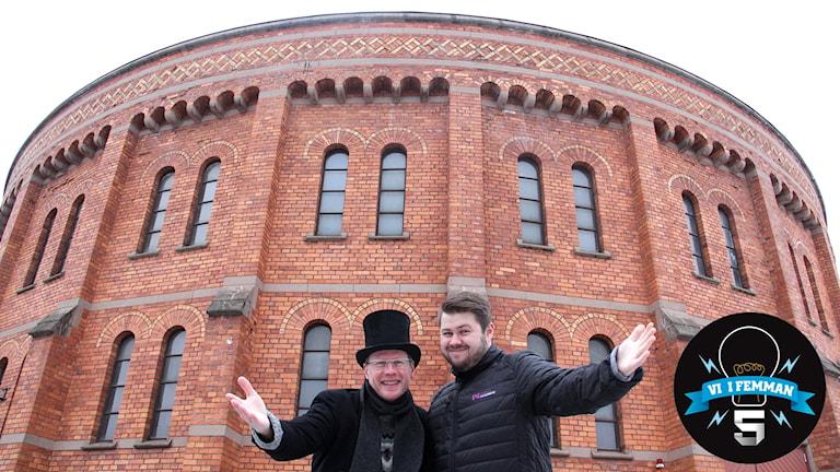 Joacim Lindwall, domare och Martin Svensson, programledare är laddade inför Vi i femman-starten i morgon.