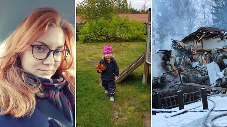Lena Hjorters dotter Freja gick på den nedbrunna förskolan Solgården i Sandviken.