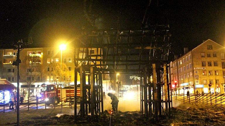 Gävlebocken brann samma dag som den invigdes.