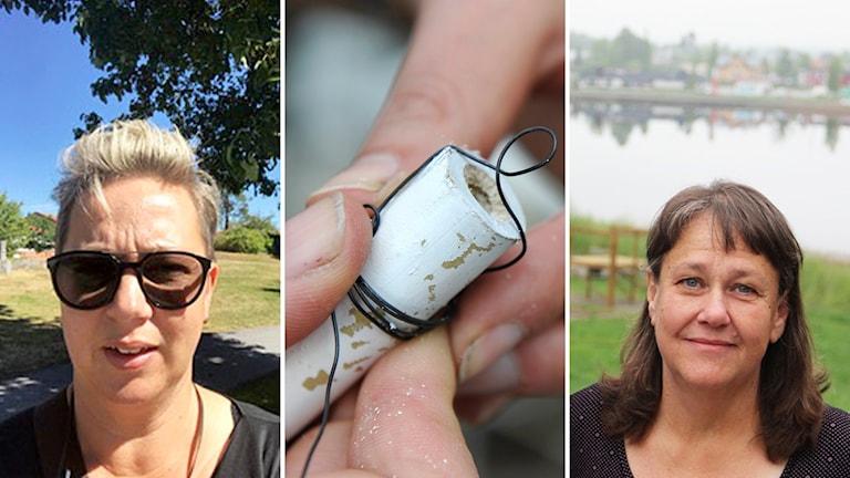 Collage Chia Hamberg och fritidschef Eva Holm