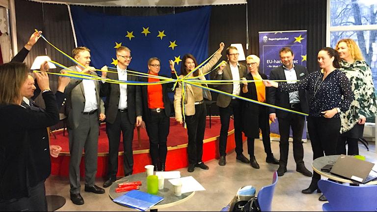 EU- och handelsminister Ann Linde var på plats i Gävle under tisdagen för att inviga det regionala exportcentret